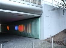 The Moodwall, Bijlmer, amsterdam, illuminate, mediatecture, studio klink, przestrzeń miejska, cube, holandia, urbanistyka, osiedle, urban alliance