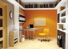 WIZUALIZACJA. DODATKOWE PÓŁKI. Dzięki półkom pod sufitem część ścian jest niezabudowana - można ją udekorować wedle gustu. W półkach warto zainstalować oświetlenie.