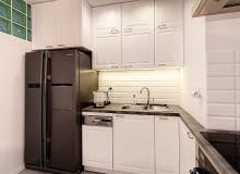 kuchnia, biała kuchnia, kuchnia retro, kuchnia z szarością