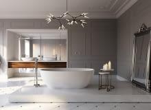 Francuski eklektyzm w salonie kąpielowym