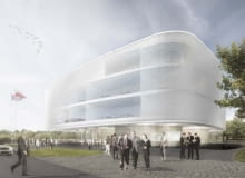 Nowa siedziba PZPN. Widok od frontu budynku.