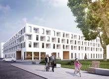 Zwycięska koncepcja zabudowy kwartału na Nowych Żernikach we Wrocławiu
