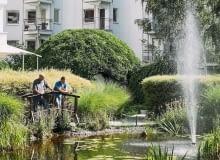 Ogród Wspólnoty Mieszkaniowej 'Pod Brzozami I' i 'Pod Brzozami II' przy al. Komisji Edukacji Narodowej 51 i 53 na Ursynowie - laureat w kategorii 'Firma' w 2015 roku.