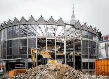 10.03.2017 Warszawa , centrum . Rozbiorka budynku Rotundy PKO . Fot. Adam Stepien / Agencja Gazeta