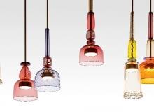 Lampy Flauti, szkło