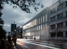 Projekt budynku warszawskiej Akademii Sztuk Pięknych przy Wybrzeżu Kościuszkowskim