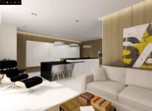 Projekt mieszkania 61 m2, aut. Alina Badora i Agnieszka Młynarska / TECON