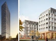 Liberty Tower (z lewej) i Postępu Apartmens (z prawej) - inwestycje realizowane pod marką INSPIRENTALS przez Golub GetHouse.
