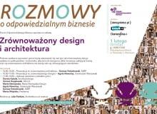"""Forum Odpowiedzialnego Biznesu zaprasza na debatę """"Zrównoważony design i architektura"""""""