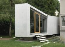 projekt, kostka, dom, lublana, słowenia, beton, rozbudowa, dom jednorodzinny