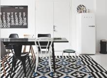 skandynawskie mieszkanie, duński styl, stylowe mieszkanie, czarno-białe mieszkanie