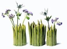 Ręcznie wykonany kamionkowy wazon Grass. Wysokość 11, 13 lub 15 cm. Fabryka Form, 129 zł, 167 zł, 213 zł