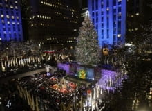 Rockefeller Center, choinka, nowy jork