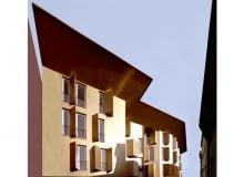 złoto, modernizacja, włochy, fasada, budynek