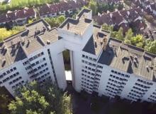Opuszczony radziecki apartamentowiec w Warszawie