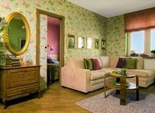 pokój dzienny, tapeta, salon