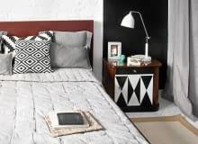 Sypialnia, lampka nocna, oświetlenie sypialni