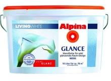 Alpina Living White GLANCE efekt: gładka powłoka z połyskiem Potrzebne produkty: grunt Alpina Renova (opcja: na zniszczone ściany); farba emulsyjna Alpina Living White GLANCE. Cena produktów na 1 m2 ściany: 6,80 zł.