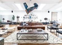 loft, industrial, vintage, wnętrza