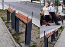 W Gdyni pojawiły się nowe meble miejskie - przysiadki