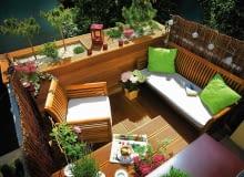 balkon, meble na taras