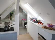 małe mieszkanie, kawalerka, mieszkanie na poddaszu