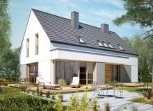 Dwukondygnacyjny dom ma wiele zalet: małą powierzchnię zabudowy (powierzchnia użytkowa jest na dwóch poziomach, dzięki czemu budynek zajmuje mniej miejsca na działce) oraz wyraźny podział na część dzienną i prywatną. Dodatkowy pokój uelastycznia ten program, może zarówno złagodzić, jak i wzmocnić taki podział.