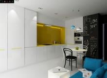 Projekt mieszkania 38 m2, propozycja architektów TECON