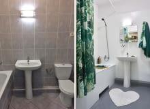 Łazienka przed i po.