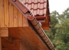 okap dachowy, podbitka dachowa, rynny stalowe