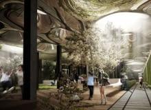 Wizualizacja projektu parku podziemnego autorstwa inżyniera z NASA Jamesa Ramseya oraz architekta Dana Barasch.