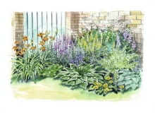 Rabata z kolorowymi kwiatami na zacienione miejsca