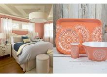 dodatki do mieszkania w kolorze łososiowym