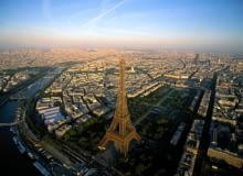 Paryżu z lotu ptaka, architektura, miasto, urbanistyka, Haussmann