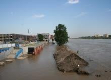 Centrum Nauki Kopernik podczas powodzi