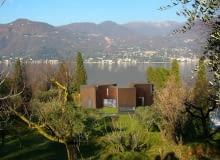 Steven Holl, architektura, dom jednorodzinny, sun slice house, włochy, alpy, dom, światło