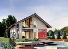 Projekt domu, Dom jednorodzinny z wiatą zamiast garażu