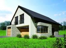 Projekt 'Dom z kamienną elewacją'