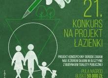 21. konkurs KOŁO na projekt łazienki - fragment plakatu konkursowego
