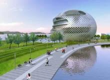 korea południowa, projekt, architektura, bloby, miasto, azja