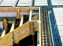 schody żelbetowe, schody betonowe, szalunek, strop