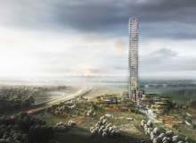 Bestseller Tower w Brande (Dania) - najwyższy wieżowiec w Europie Zachodniej. Proj. Dorte Mandrup Arkitekter