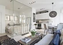 małe mieszkanie, kawalerka, mieszkanie w skandynawskim stylu, jak urządzić małe mieszkanie, jasne mieszkanie