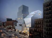 Kolejna bryła Nowego Muzeum Sztuki Współczesnej w Nowym Jorku. Proj. OMA