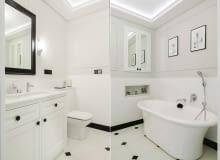Biała łazienka, aranżacja łazienki, meble łazienkowe