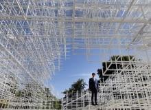 Pawilon przy Serpentine Gallery w Londynie 2013, proj Sou Fujimoto