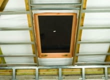 okno dachowe, stelaż, poddasze
