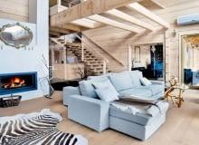 drewniany dom, aranżacja wnętrz, design, tradycyjny styl