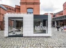 LODOVNIA - nowa lodziarnia na placu przed Starym Browarem w Poznaniu, projekt: mode:lina