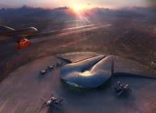 Space Port America autorstwa Foster and Partners